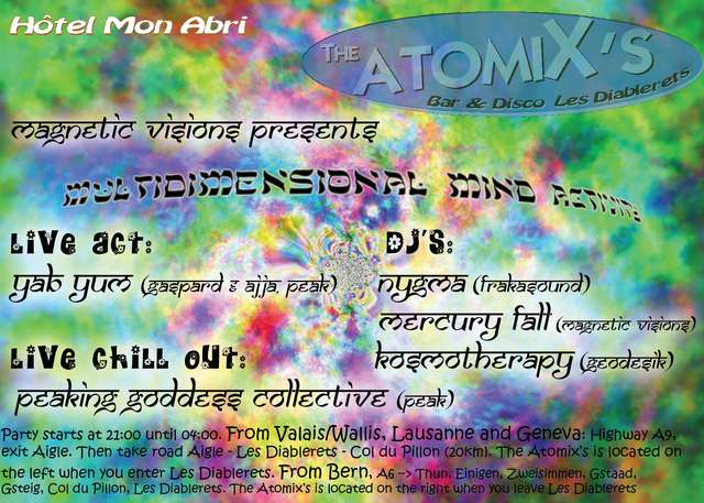 Party Flyer Multidimensional Mind Activity 22 Oct '04, 21:00