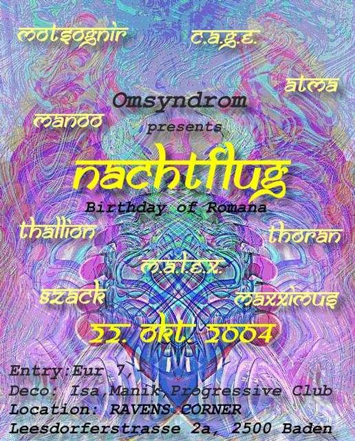 Party Flyer NACHTFLUG 22 Oct '04, 22:00