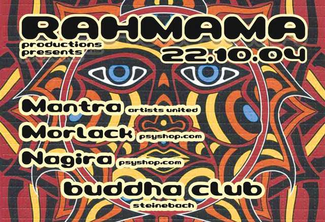 Party Flyer Rahmama Club 22 Oct '04, 22:00