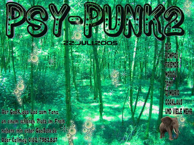 Party Flyer PSY-Punk2 22 Jul '05, 22:00