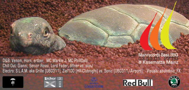Party Flyer Mainrecords-Bass.BBQ @ Kasematte Mainz 3 Sep '05, 22:00