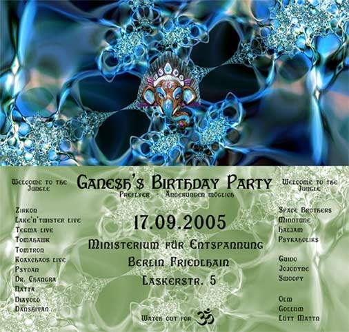 Ganesh's Birthday Party 17 Sep '05, 22:00