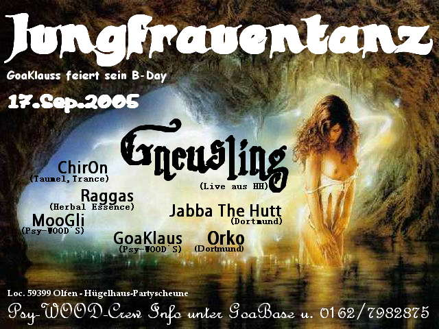 Party Flyer Jungfrauentanz 17 Sep '05, 22:00