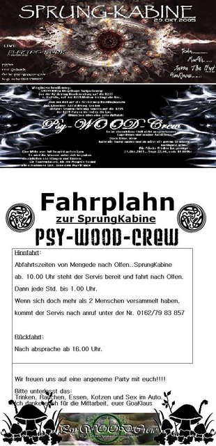 Party Flyer SprungKabine 29 Oct '05, 22:00
