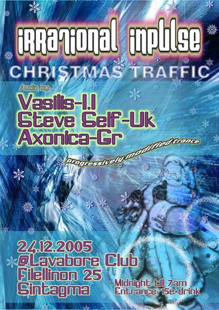 Party Flyer IRRATIONAL IMPULSE presents CHRISTMAS TRAFFIC 24 Dec '05, 23:00