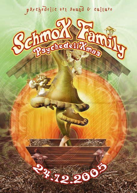 Party Flyer SchmoX Family Psychedeli Burzel Xmas 24 Dec '05, 23:00