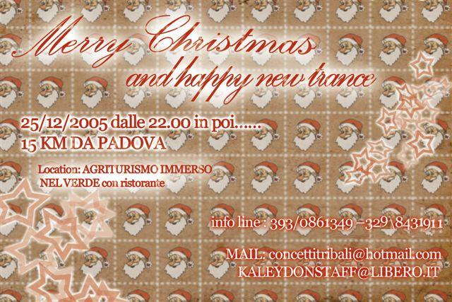 Party Flyer Merry Christmas and happy new trance 25 Dec '05, 22:00
