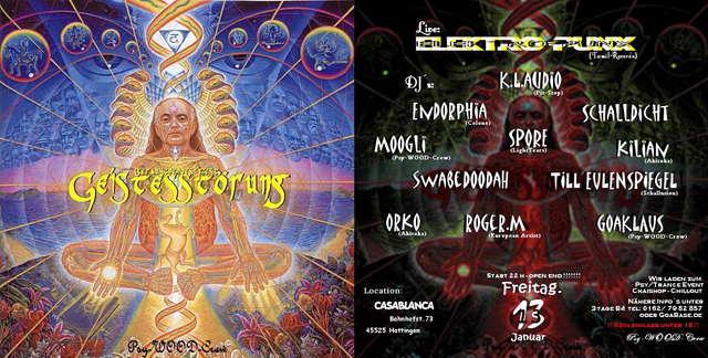 Party Flyer ***GEISTESSTÖRUNG***Psy/Trance meets Friends 13 Jan '06, 22:00
