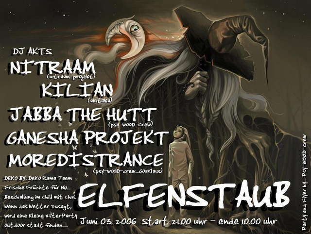 Party Flyer **** ELFENSTAUB **** 3 Jun '06, 21:00