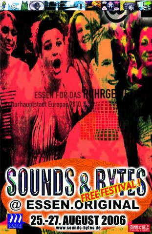 Party Flyer -free-city-festival- SOUNDS & BYTES @ESSEN.ORIGINAL 25 Aug '06, 17:00