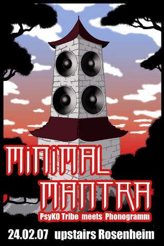 Party Flyer Minimal Mantra - PsyKO-Tribe meets Phonogramm 24 Feb '07, 22:00