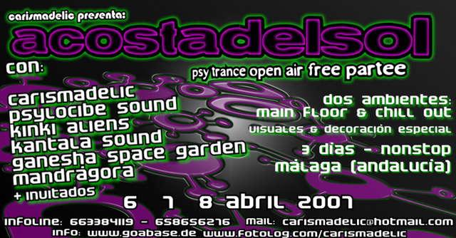 Party Flyer :: A C O S T A D E L S O L :: 6 Apr '07, 20:00