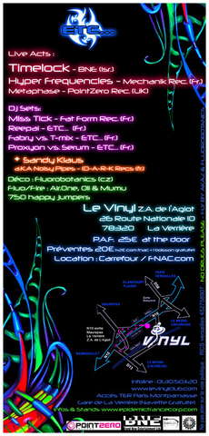 Party Flyer ACTIVATING EVOLUTION- Timelock, Hyper frequencies, Metaphase 5 May '07, 23:00