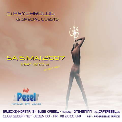Party Flyer DJ PSYCHROLOG & SPECIAL GUESTS - MOONCLUB PARTY 5 May '07, 22:00