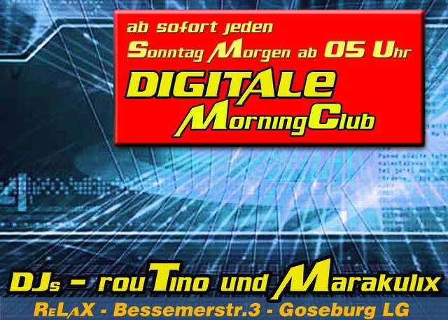 Party Flyer Digitale Morning Club 6 May '07, 05:00