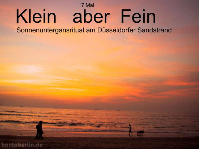 """Party Flyer """" Klein aber Fein """" am Sandstrand 6 May '07, 18:00"""
