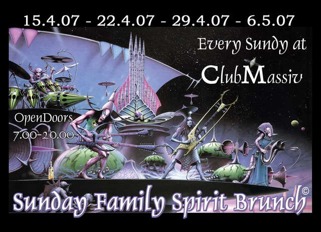 Party Flyer NEU>>SundayFamilySpiritBrunch >TheGo(A)fterhour Clu 6 May '07, 07:00