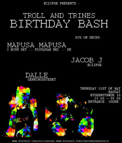 Party Flyer Eclipse :: Dgp & Trolls Birthday Bash 31 May '07, 22:00