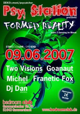 Party Flyer FORMED REALITY 9 Jun '07, 23:00