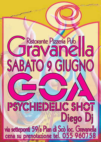 Party Flyer GRAVANELLA GOA PSYCHEDELIC SHOT 9 Jun '07, 23:30
