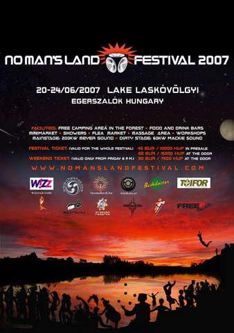 Party Flyer NO MAN'S LAND FESTIVAL 2007 20 Jun '07, 20:00