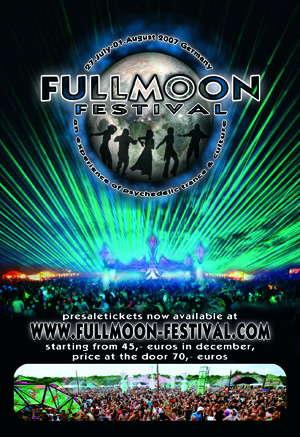 Party Flyer FULLMOON FESTIVAL 27 Jul '07, 22:30