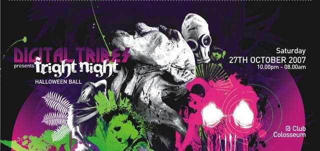 Party Flyer Alchemy Records - Digital Tribes - FRIGHT NIGHT- Halloween 27 Oct '07, 23:00