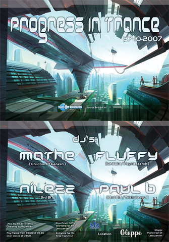 Party Flyer Progress In Trance 27 Oct '07, 23:00
