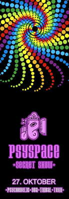 Party Flyer PsySpaceSecretShow 27 Oct '07, 23:00