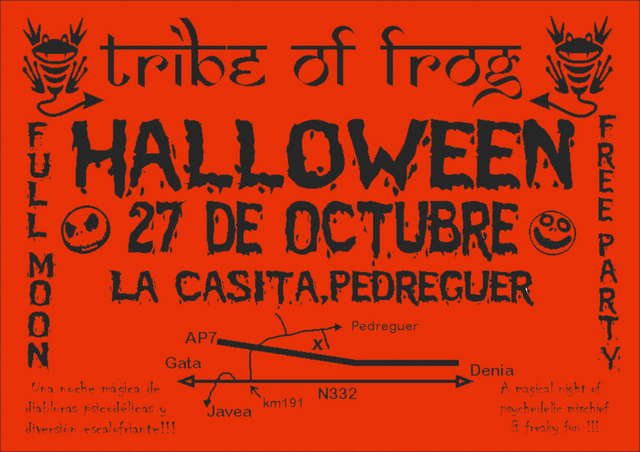 Party Flyer TRiBE oF FRoG presents: HALLOWEEN-FULL MOON FREE PARTY!!! 27 Oct '07, 23:30
