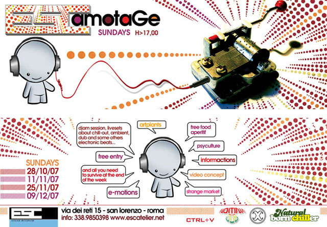 Party Flyer ESCamotage 28 Oct '07, 17:00
