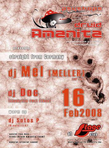 Party Flyer DRUID AMANITA 16 Feb '08, 23:00