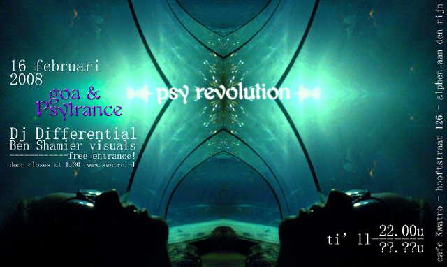 Party Flyer Psyrevolution 17 Feb '08, 22:00