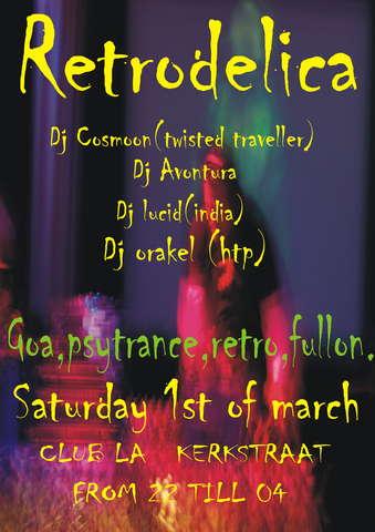 Party Flyer hightechpleasures presents:retrodelica 26 Feb '08, 22:00