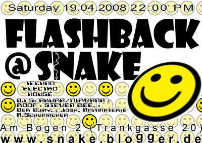 Flashback@snake and roofs birthdayparty 19 Apr '08, 22:00