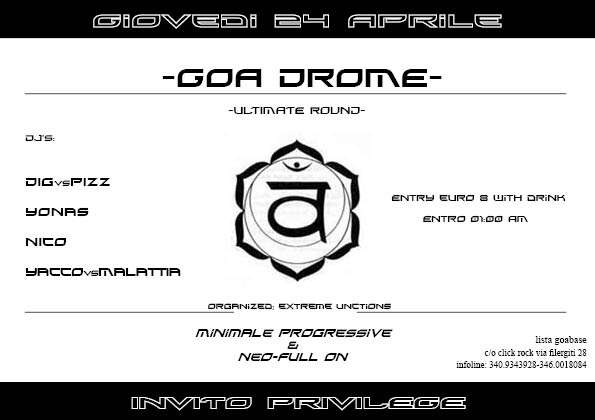 Party Flyer _,/(-Goa GromE-)\,_Ultimate Round 24 Apr '08, 23:30