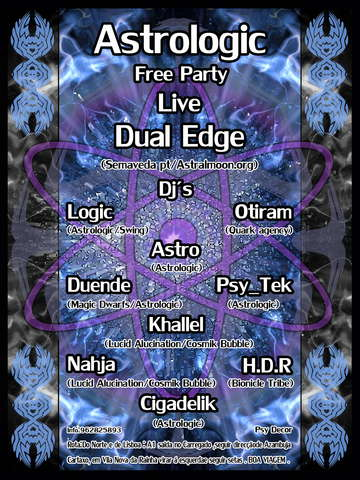 Party Flyer Astrologic Free Party 3 May '08, 23:00