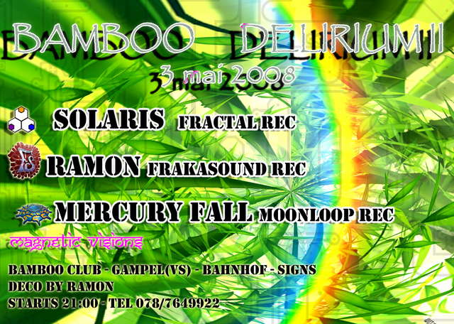 Party Flyer Bamboo Delirium 2 3 May '08, 21:00