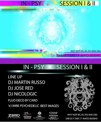 Party Flyer In Psy Session I 3 May '08, 23:30