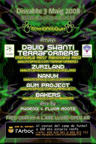 Party Flyer Terraformers Dj Set@L'Arboç 3 May '08, 23:30