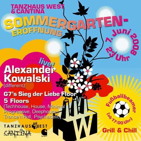 Party Flyer SIEG DER LIEBE - Sommergarteneröffnung mit KLANGSTRAHLER 7 Jun '08, 23:00