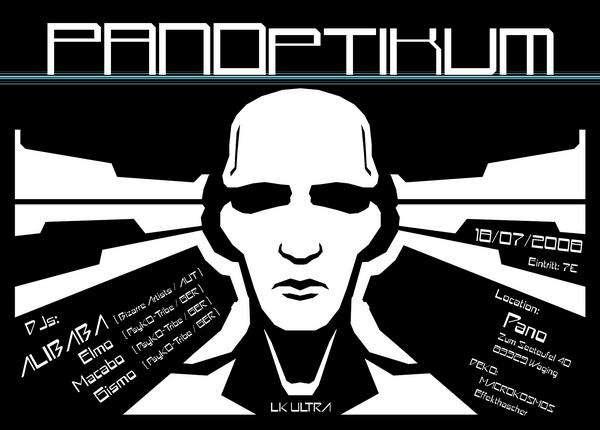 Party Flyer Panoptikum 18 Jul '08, 21:00