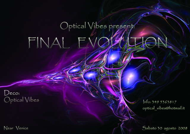 Party Flyer ....FINAL EVOLUTION.... 30 Aug '08, 23:00