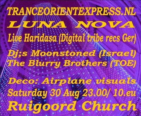 Party Flyer Luna Nova 30 Aug '08, 22:00