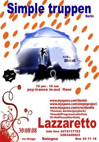 Party Flyer **Magic** truppen** 30 Aug '08, 22:00