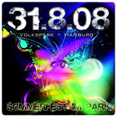 Party Flyer *** Sommerfest im Park *** 31 Aug '08, 12:00