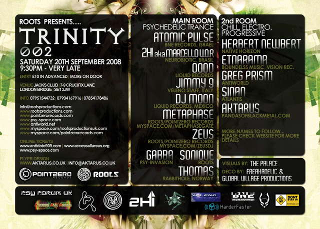 Trinity 002 with Atomic Pulse, 2HI, OOOD + Many More 20 Sep '08, 21:30