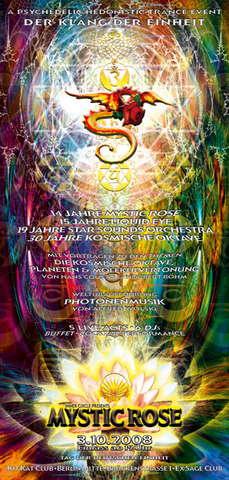 Party Flyer The 14 Year Mystic Rose Celebration---DER KLANG DER EINHEIT 3 Oct '08, 19:00