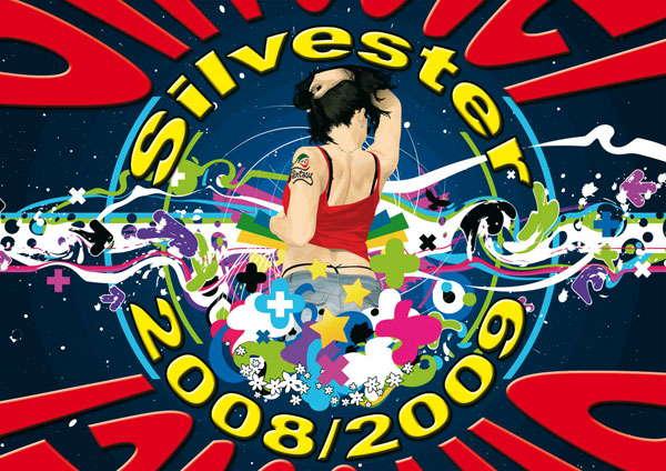 Party Flyer Silvester - Duca, Haldolium and Symphonix live 31 Dec '08, 22:00