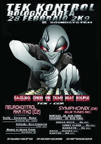 Party Flyer << C C B CREW - MK - BEAT KOUPLE - NEW ENERGY >> KaRniVaL !! 28 Feb '09, 22:00